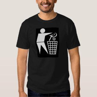 Trash_Religion_w-on-b_no-site Tshirts