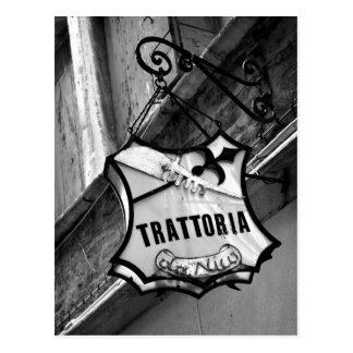 Trattoria Zeichen-Postkarte Postkarte