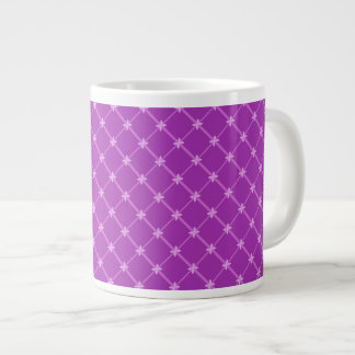Traube lila kreuzweises Muster Jumbo-Tassen