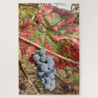 Traube und Blätter Puzzle