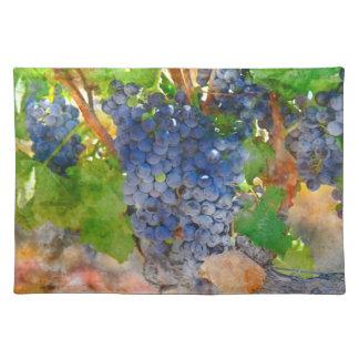 Trauben auf der Rebe in Napa Valley Kalifornien Stofftischset