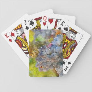 Trauben auf Rebe Spielkarten