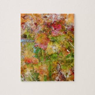 Trauben-Blätter mit Vintager Film-Art Puzzle