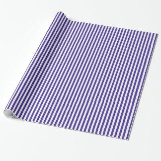 Trauben-blaue Streifen Geschenkpapier