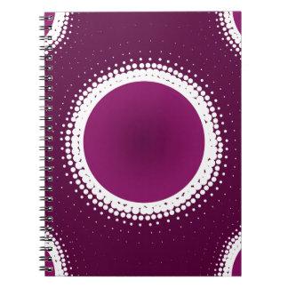 Trauben-lila Eklipse Spiral Notizblock