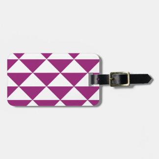 Trauben-lila und weiße Dreiecke Gepäckanhänger