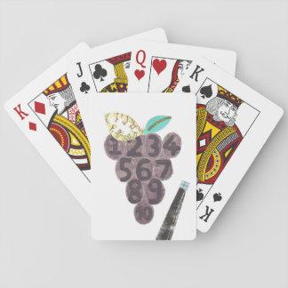Trauben-Pool-Spielkarten Spielkarten
