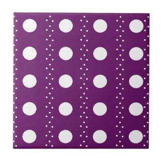 Trauben-Punkt-Streifen Fliese