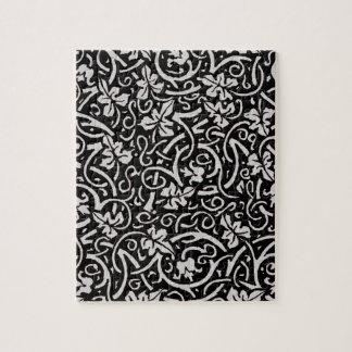 Trauben-Rebe-Kunst Williams Morris Schwarz-weiße Puzzle