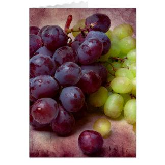 Trauben rot und grün grußkarte