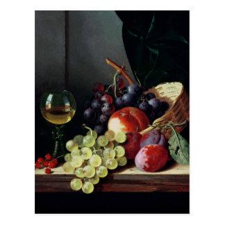 Trauben und Pflaumen Postkarte
