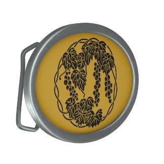 Traubenkreis Ovale Gürtelschnalle
