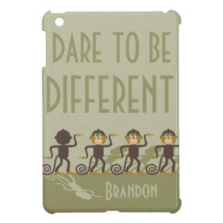 Trauen Sie sich, unterschiedlich zu sein, Affen, iPad Mini Hülle