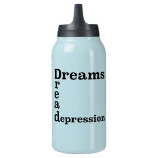 Traum-Angst-Krise Isolierte Flasche