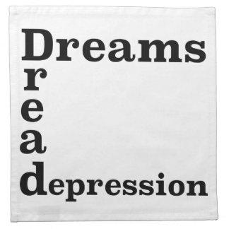 Traum-Angst-Krise Serviette