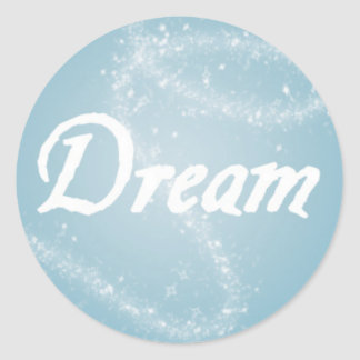 Traum auf Blau Runder Aufkleber