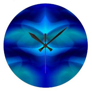 Traum der blauen Schildkröte Große Wanduhr