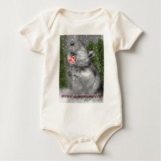 Traum des Gerbils Weihnachts Baby Strampler