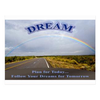 Traum-Folgen Sie Ihren Träumen Postkarte