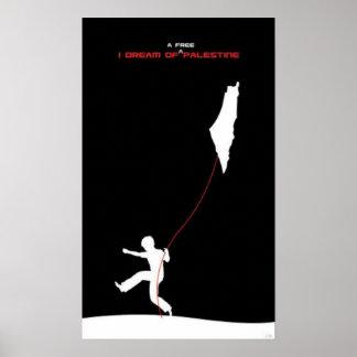 Traum freien Palästina-Plakats Poster