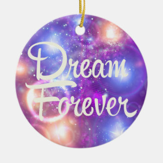 Traum-für immer lila Raum Weihnachtsornament