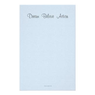 Traum glauben Aktion Briefpapier