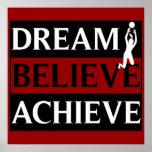 Traum glauben erzielen der Volleyball-Plakat der F