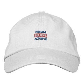 Traum glauben erzielen gestickten Hut Bestickte Kappen