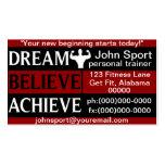 Traum glauben erzielen persönliches visitenkarten