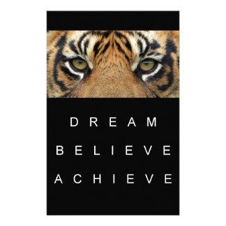 Traum glauben erzielen Tigeraugen Briefpapier