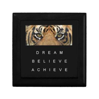 Traum glauben erzielen Tigeraugen Schmuckschachtel