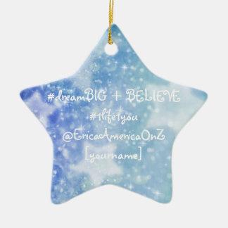 Traum + Glauben Sie Stern-Verzierung Keramik Stern-Ornament