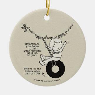Traum-Griff Sie Rundes Keramik Ornament