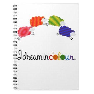 Traum in den Farbstrickenoder Spiral Notizblock