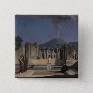 Traum in den Ruinen von Pompeji, 1866 Quadratischer Button 5,1 Cm