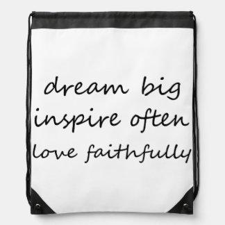 Traum inspirieren Liebe Turnbeutel