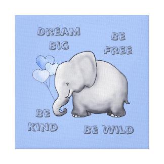 Traum, ist freies, nettes u. wildes niedliches leinwanddruck