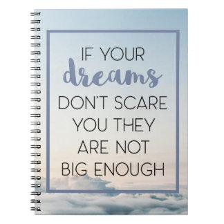 Traum-Schrecken, den Sie zitieren Spiral Notizblock