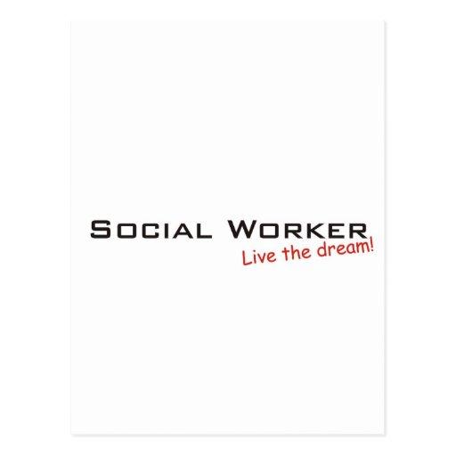 Traum-/Sozialarbeiter Postkarte