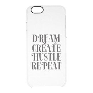 Traum stellen Gedränge-Wiederholungs-Fall her Durchsichtige iPhone 6/6S Hülle