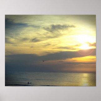 Traum von SonnenaufgangSurfer und von Poster