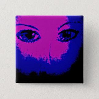 Traumaugen Quadratischer Button 5,1 Cm