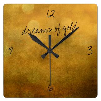 Träume der GoldWanduhr Quadratische Wanduhr