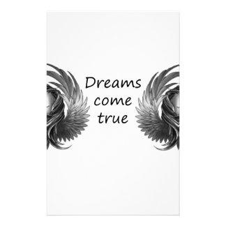 Träume kommen briefpapier