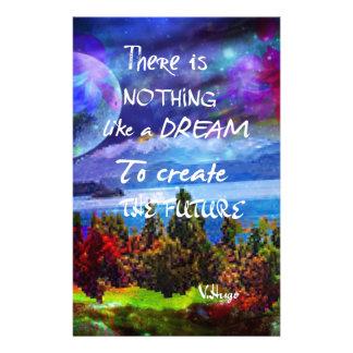 Träume schaffen die Zukunft Briefpapier