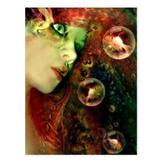 Träume vom tiefen postkarte