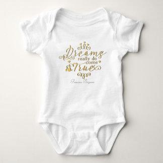 Träume wirklich kommen wahrer personalisierter baby strampler
