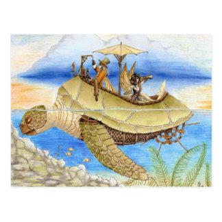 Träumen auf Aquamarine-Gezeitenpostkarte Postkarte