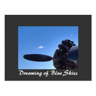 Träumen der blaue Himmel-Postkarte Postkarte