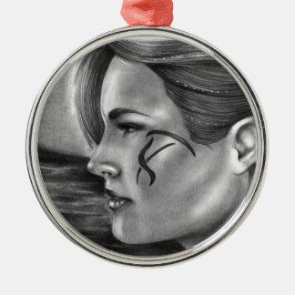 Träumen der erstklassigen Verzierung Rundes Silberfarbenes Ornament